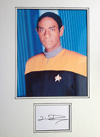 TIM RUSS - STAR TREK ACTOR - STUNNING SIGNED COLOUR PHOTO DISPLAY.