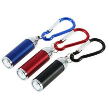 Mini Convex Mirror LED Flashlight Lamp Light Torch Keychain Keyring New I5
