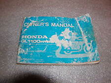 HONDA GL 1100 GOLD WING MANUALE D'USO OWNER 'S MANUAL
