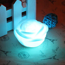 Color Changing Rose Flower LED Light Night Party Candle Lamp Romantic New