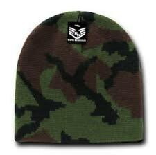 Jungle Woodland Green Black CAMO Camoflauge Stocking Cap Beanie Winter Stocking