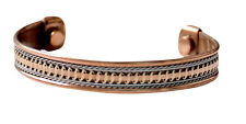Pure Copper Powerful Magentic Cuff Man Women Bracelet Pain Relief Magnetic