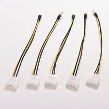 5x 4-Pin Molex/IDE to 3-Pin CPU/Case Fan Power Connector Cable Adapter 20cm . TO
