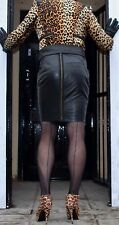 FANTASTIC AND SEXY REAL BLACK LEATHER TIGHT PENCIL/HOBBLE SKIRT MISTRESS DOMINA
