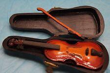 Vintage Miniature Violin Pin in miniature case