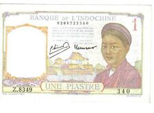 FRENCH INDO - CHINA, 1 PIASTRE, P#54c, ND