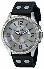 FS4937 Men's Fossil Recruiter Pilot Style Leather Band Watch