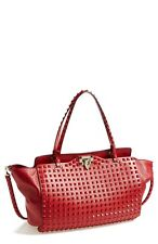 100% AUTHENTIC NEW VALENTINO RED ROCKSTUD MEDIUM BAG/HANDBAG