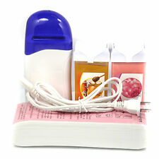Depilatory Cable Waxing Heater kit with 100pc Wax Paper + 100g Roll On Wax Honey