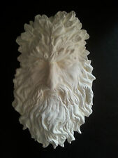 Greenman Green man plaster wall hanging decorative plaque cream home garden