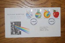 Marzo de 1987;; Principia Mathematica primer día cubierta; Sir Isaac Newton