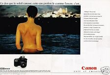 Publicité advertising 1991 (2 pages) Appareil photo canon EOS 1000 F
