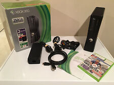 Microsoft Xbox 360 S Slim  250 GB Model 1439 Matte Black Console