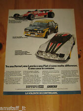 FERRARI FIAT ABARTH 131 RALLY LANCIA STRATOS=ANNO 1977=PUBBLICITA'=ADVERTISING=