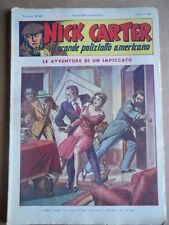Nick Carter Il Grande poliziotto americano Anni 40 n°25 ed. NERBINI  [G369]