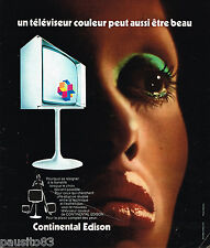 PUBLICITE ADVERTISING 055  1973  CONTINENTAL ESISON   téléviseur couleur