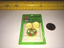 1/12 MINIATURE SALAD IN BOWL WITH 4 WOODEN SERVING BOWLS NEW IN PACKAGE