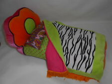 Groovy Girls Flower Power Plush Bed Zebra Comforter  Furniture