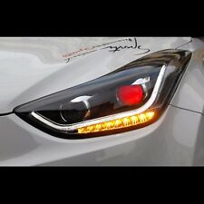 LED Devil Eye Audi Style Xenon HID Headlights For Hyundai Elantra 2011~2013