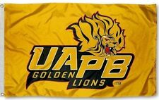 ARKANSAS PINE BLUFF GOLDEN LIONS HBCU TEAM SCHOOL FLAG 3'X5' 2 METAL GROMMETS