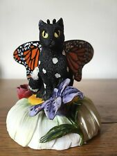 Monarch Butterfly Fairy Cat Figurine by Carrie Hawks | Nemesis Now