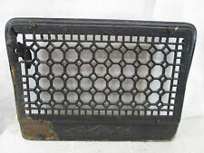 """Vintage Cast Iron Wall Grate w/Damper- Honeycomb Design 11"""" x 17"""" ASG#9"""