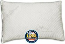 Snuggle-Pedic Shredded Memory Foam Pillow w/ Bamboo Ultra-Luxury Cover, Queen