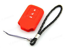Red Silicone Case Cover For Honda Fit Jade Crider Remote Smart Key 3 Buttons 4