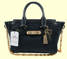 COACH 36235 Swagger 20 Navy Pebble Leather X-Body Bag Msrp $350