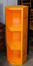 "NEW ~ VEUVE CLICQUOT CHAMPAGNE 54"" TALL YELLOW 3-SHELF HEXAGONAL DISPLAY BARWARE"