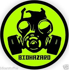 BIO-HAZARD GAS MASK SYMBOL HARD HAT STICKER (LOT OF 3)