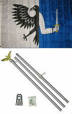 3x5 Connaught Connacht Ireland Irish Flag Aluminum Pole Kit Set 3'x5'