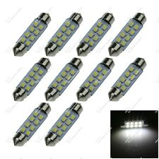 10X White 41mm DE3021 8 SMD 1210 LED Festoon Bulb Interior Light Lamps Car ZI304