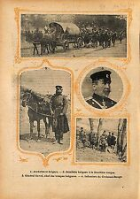 Balkan War General Mihail Savov Bulgaria Army Estafette  1912 ILLUSTRATION