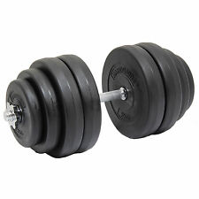 30KG SINGLE HEAVY DUMBBELL FREE WEIGHT SET GYM BARBELL BICEP WORKOUT LIFTING