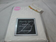 Barnsley Manor JULIETTE LACE 2 Standard Pillowcases ~ Egyptian Cotton  ~ Ivory