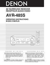 Denon AVR-485S AV Receiver Owners Manual
