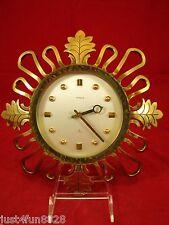 Vintage Swiss Semca 8-Day 15 Jewels Solid Brass Wall Clock