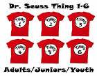 Adult Juniors Youth Dr. Seuss Cat In the Hat Thing One Two 1-6 T-Shirt Tee Shirt
