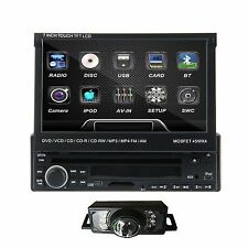 7Inch 1 Din Car CD DVD Player In Dash Stereo LCD Touch Screen BT Radio+Camera