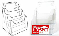 SALE: Slight Defect: A4 3 Tier 3 in 1 Leaflet Holder Wall/ Slat /Counter LD4102