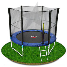 6FT TRAMPOLINE WITH SAFETY NET ENCLOSURE SPRING COVER PADDING LADDER RAIN COVER