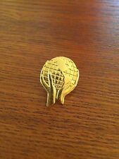 Vintage Gold Tone Whole World In His Hands Globe Earth Pin Statement Brooch