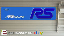 Ford Focus RS Workshop Banner, PVC Banner with Eyelets, Mk3 Focus RS BLUE