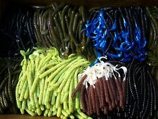 100pc ASSORTMENT of BASS FISHING WORMS,Lures,Soft Plastic Baits,Assorted Styles