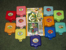 Big Lot 12 Pokemon Polly Pocket Monsters Tomy Play Set Compact Figures RARE