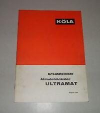Catalogo parti ricambio/elenco köla abladehäcksler Ultramat STAND 1966