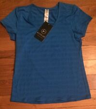 NWT Women's Blue ACTIVE LIFE Stretchy Athletic Workout Top Size Medium M $48
