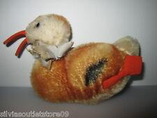 STEIFF Mohair Ente Duck 12 cm 1959 - 67 ohne Knopf und Fahne 2312.03