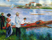 """Oarsmen at Chatou"" Pierre A. Renoir, Reproduction in Oil,  42""x34"""
